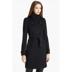 Casaco Coat Preto Inverno Elegante Importado
