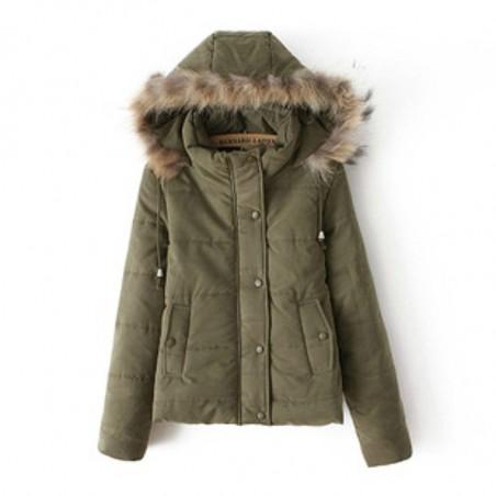 Jaqueta Casaco Verde Inverno Elegante Importado