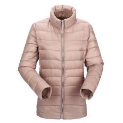 Casaco Jaqueta Rosa Inverno Elegante Importado