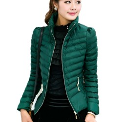 Casaco Verde Inverno Elegante Importado
