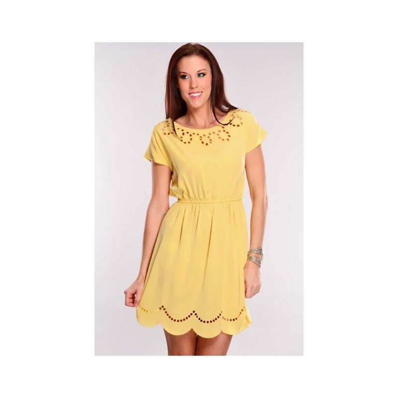 Vestido Casual Curto Amarelo Importado