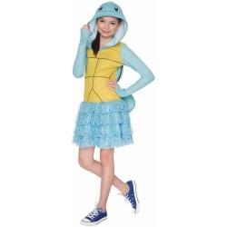 Fantasia Infantil Pokemon Go Squirtle Meninas Vestido