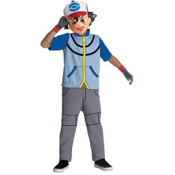 Fantasia Infantil Pokemon Go Ash Macacão e Máscara