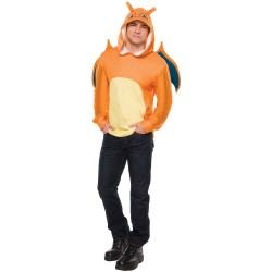 Fantasia Masculina Adulto Pokemon Go Charizard Blusa