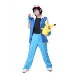 Fantasia Adulto Pokemon Go Ash com Boneco Pikachu