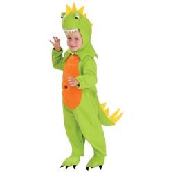 Fantasia Infantil Dinossauro Verde Carnaval Halloween