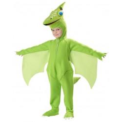Fantasia Infantil Dinossauro Verde Carnaval Halloween Pteranodon