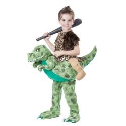 Fantasia Infantil das Carvernas Montado no Dinossauro Importada