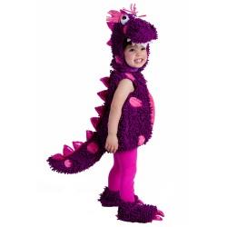 Fantasia Infantil Dinossauro Roxo Meninas Importada