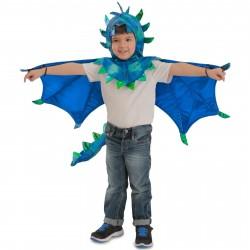 Fantasia Infantil Dragão Azul Meninos Importada