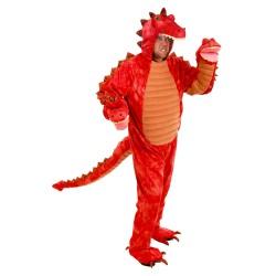 Fantasia Adulto Dragão Três Cabeças Vermelho