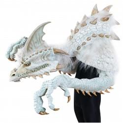 Fantasia Adulto Dragão Branco Realista