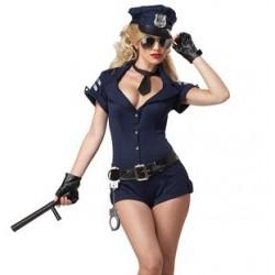 Fantasia Adulto feminina Policial Sexy Festa a Fantasia
