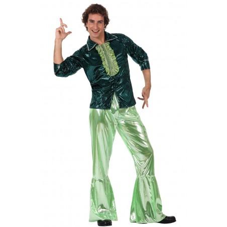 Fantasia Masculina Disco Verde Anos 70 - Importada