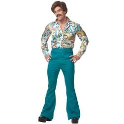 Fantasia Masculina Disco Azul Anos 70 - Importada