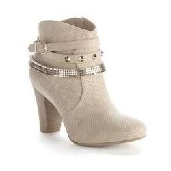 Bota Ankle Boot Bege Nude Feminina Importada Couro