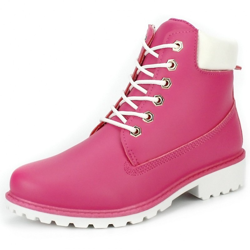 Bota Cano Curto Ankle Boot Rosa Pink Nude Couro Importada