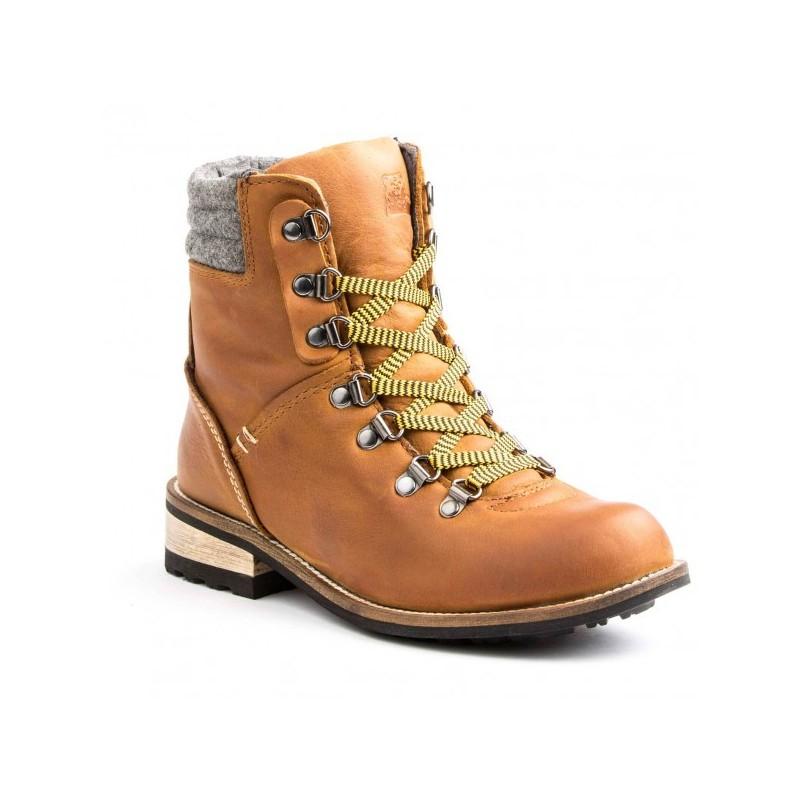 Bota Cano Curto Ankle Boot Marrom Couro Importada