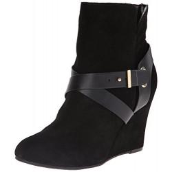 Bota Feminina Ankle Boot Preta Salto Plataforma