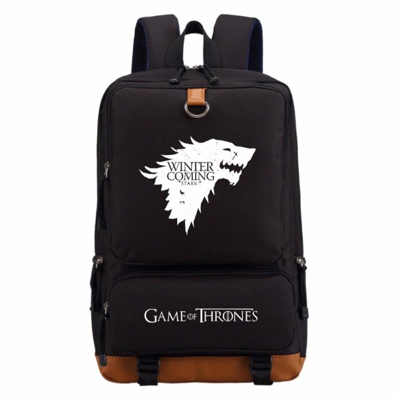 Mochila Preta Série Game of Thrones Casa Stark