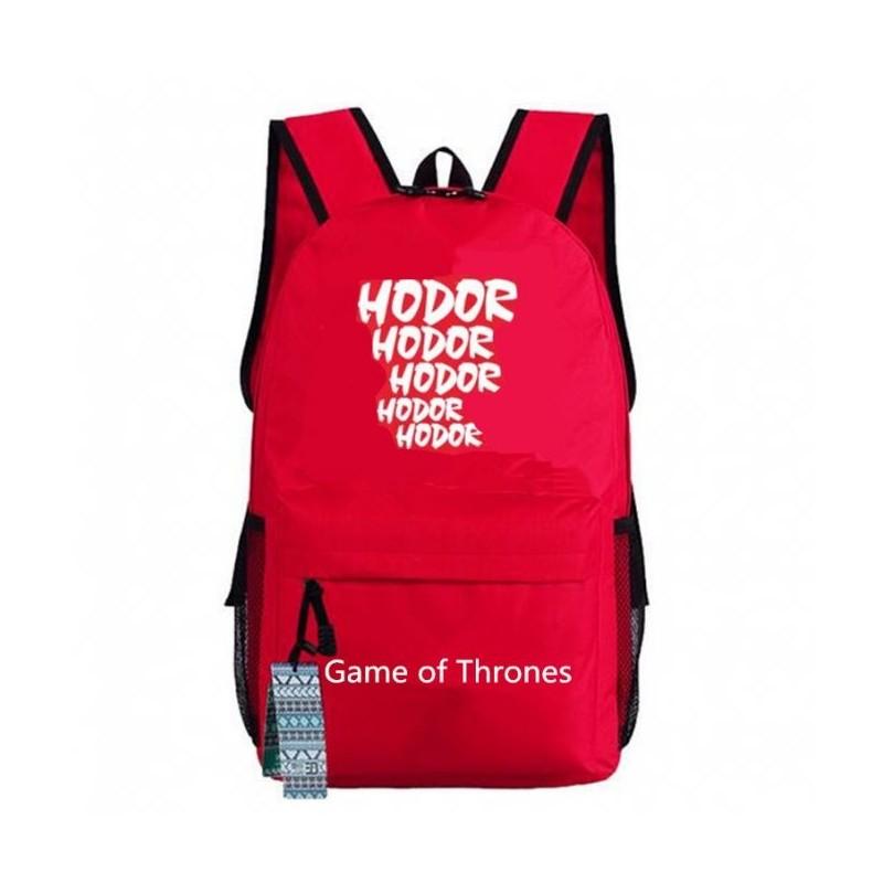 Mochila Vermelha Série Game of Thrones Personagem Hodor