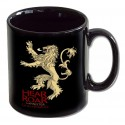 Caneca Preta Game of Thrones Emblema Casa Lannister Geek