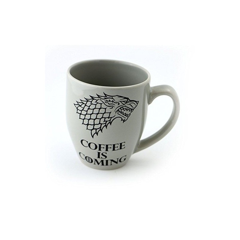 Caneca Cerâmica Game of Thrones Casa Stark Coffe is Coming