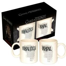 Kit Canecas de Café Game of Thrones Khaleesi & Khal Geek Casal