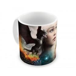 Linda Caneca de Café Game of Thrones Imagem Khaleesi Daenerys Geek