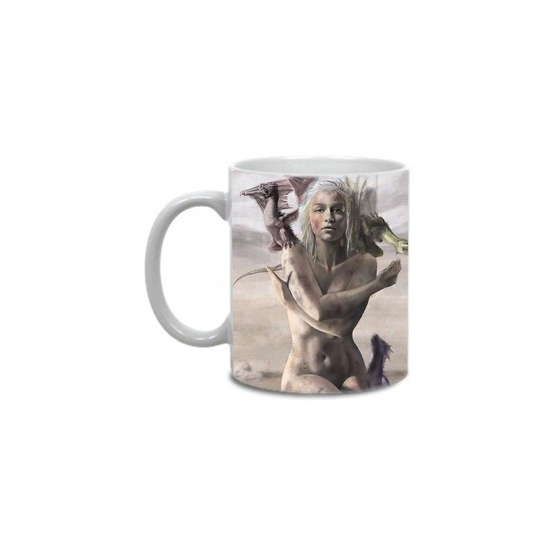 Linda Caneca de Café Game of Thrones Rainha Khaleesi Daenerys Geek