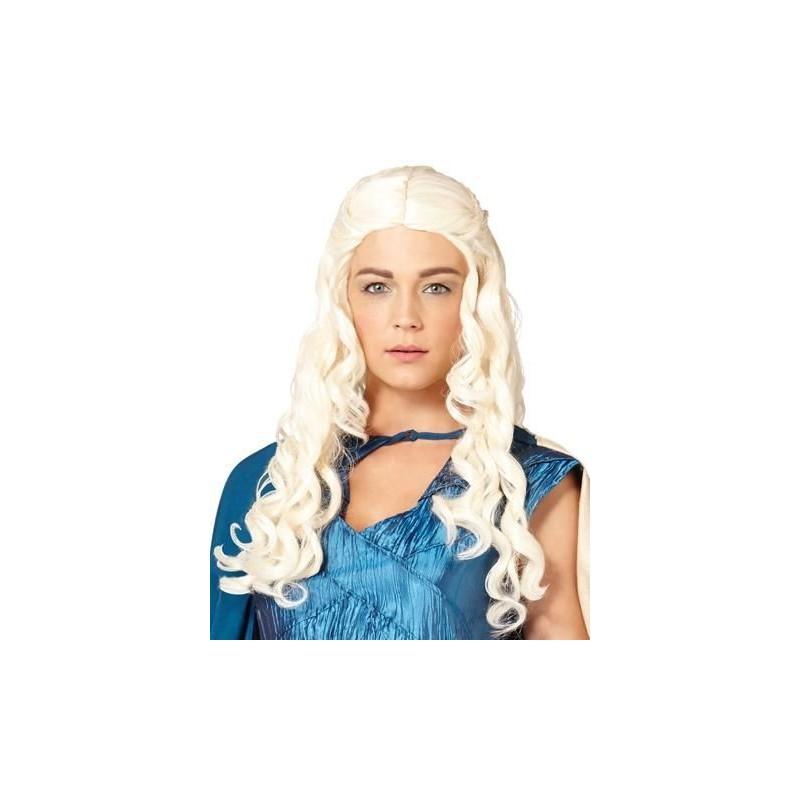 Peruca Feminina Daenerys Targaryen Game Of Thrones Festa Halloween Adulto