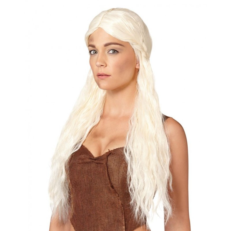 Peruca Feminina Daenerys Targaryen Khaleesi Game Of Thrones Festa Halloween Adulto