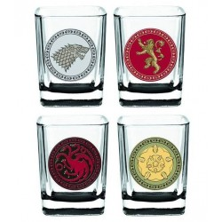Conjunto de Copos de Tequila Game of Thrones Quadrados 4un Geek