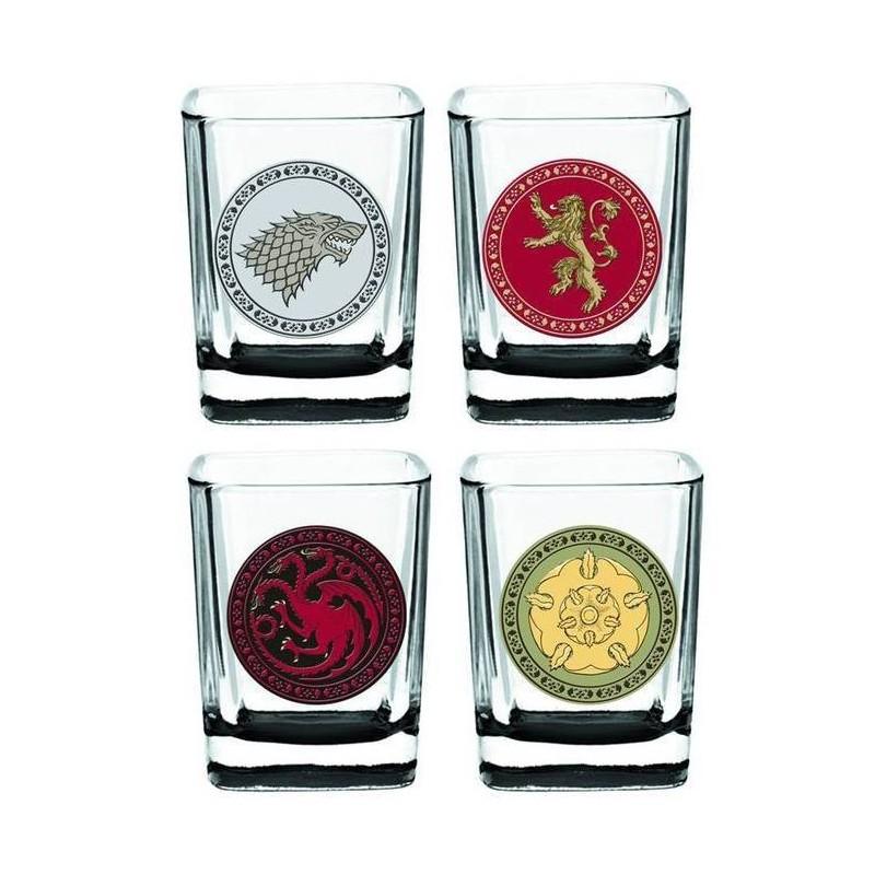 Conjunto de Copos de Tequila Game of Thrones Quadrados 4un Geek