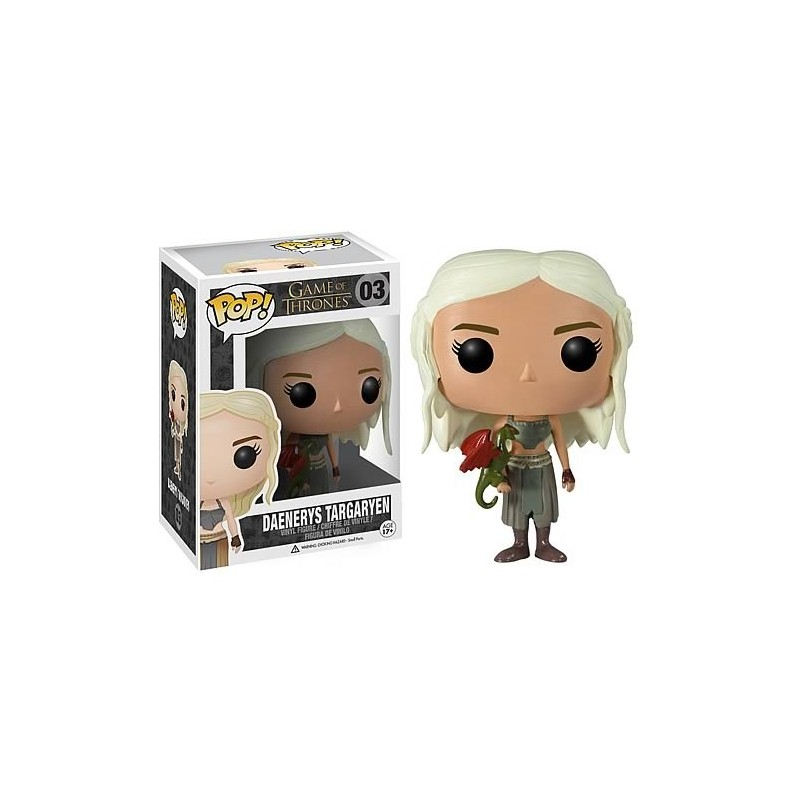Boneco Funko Pop Vinil Game of Thrones Daenerys Targaryen Dragão Geek