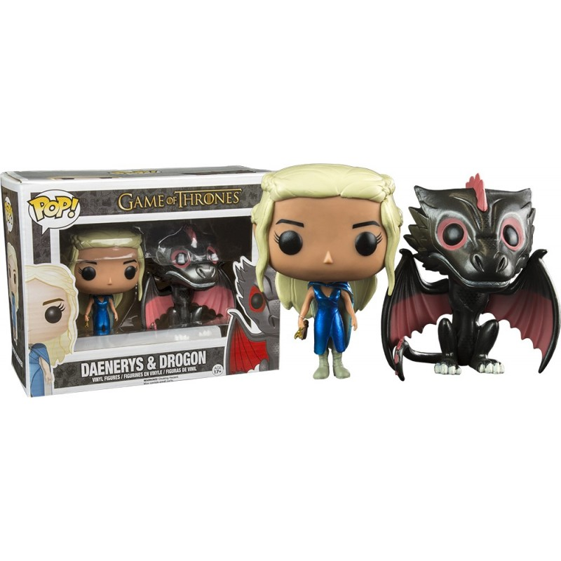 Boneco Funko Pop Vinil Game of Thrones Daenerys Targaryen & Drogon Dragão Geek