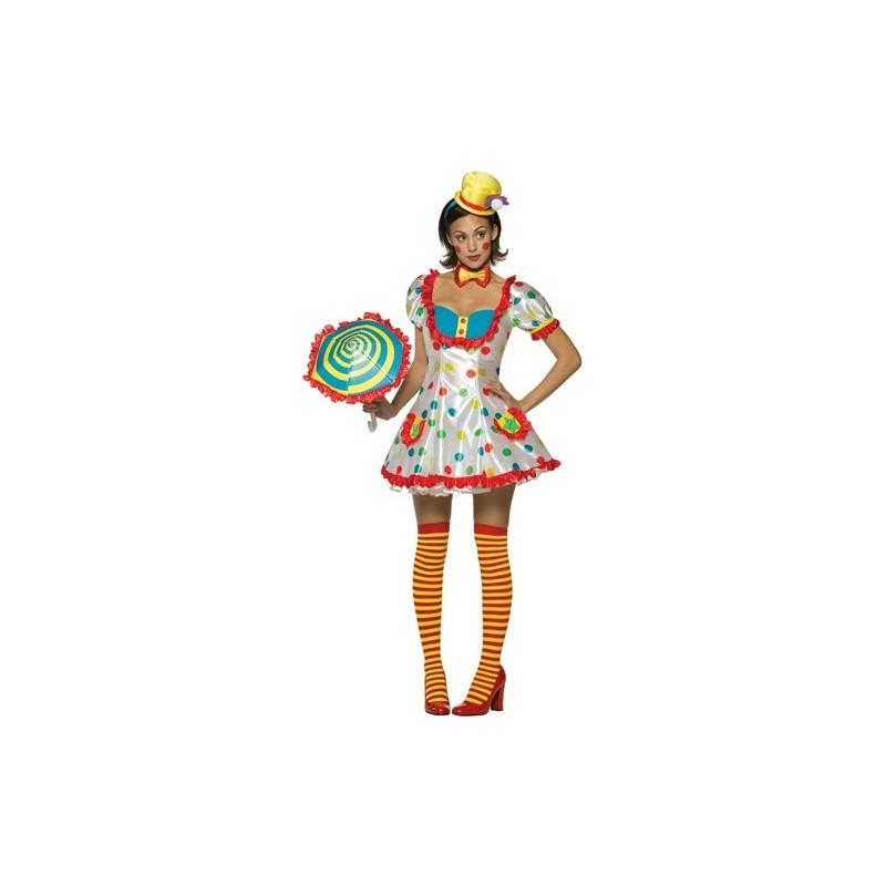 Fantasia Feminina Adulto Palhaça Luxo Halloween Festa a Fantasia Carnaval