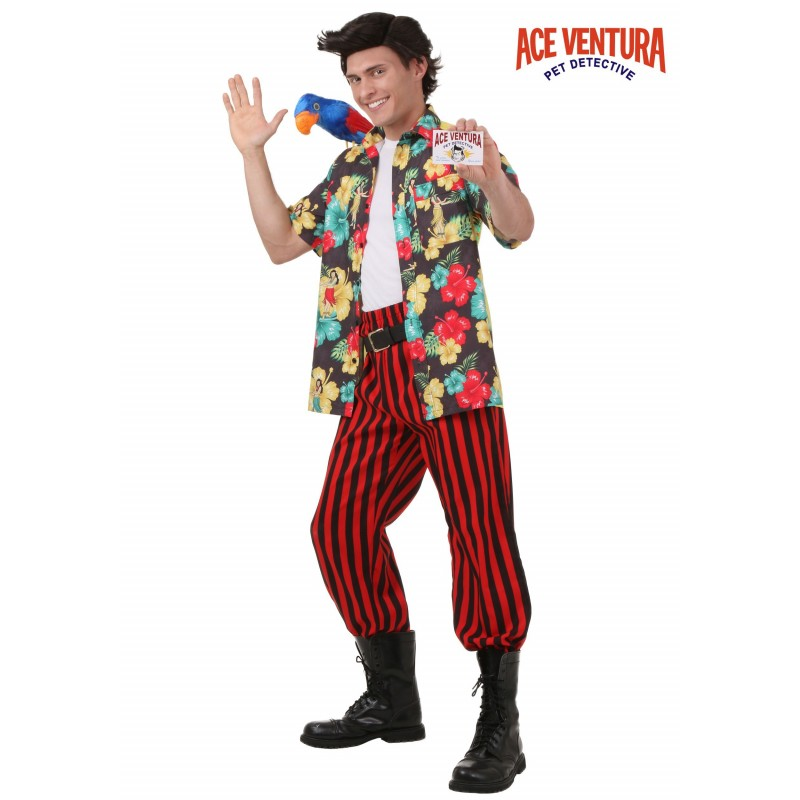 Fantasia Masculina Adulto Ace Ventura Halloween Festa a Fantasia Carnaval