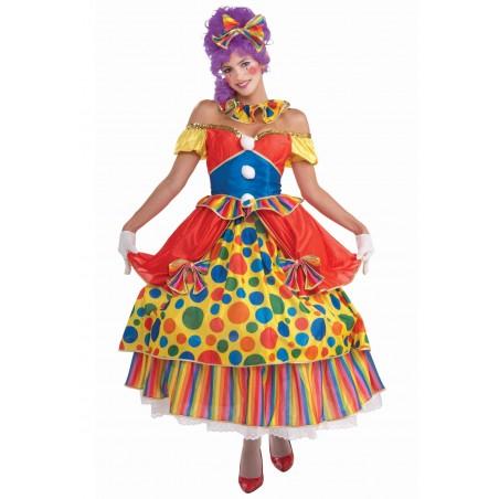 Fantasia Feminina Palhaça Luxo Carnaval Festa a Fantasia Halloween