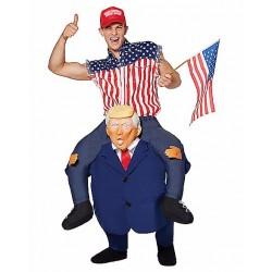 Fantasia Adulto Montando no Trump Halloween Festa a Fantasia Carnaval
