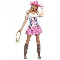 Fantasia Feminina Cowgirl Country Vaqueira Halloween Carnaval