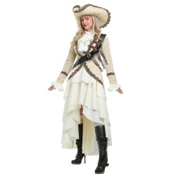 Fantasia Feminina Pirata Plus Size Importada Carnaval Halloween Festa