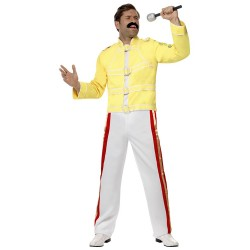 Fantasia Masculina Freddie Mercury Carnaval Festa Halloween