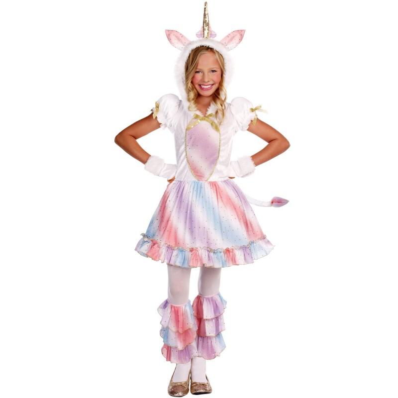 Fantasia Infantil Meninas Unicornio Luxo Carnaval Festa Halloween Importado