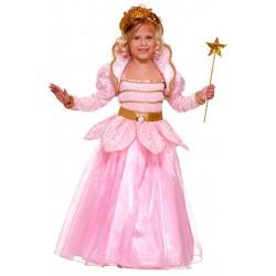 Fantasia Infantil Meninas Fada Madrinho Rosa Luxo Carnaval Festa Halloween Importado