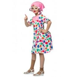 Fantasia Infantil Meninas Velhinha Carnaval Festa Halloween Importado