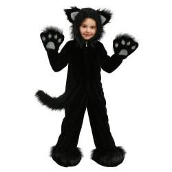 Fantasia Infantil Gato Preto Halloween Carnaval Festa Importada