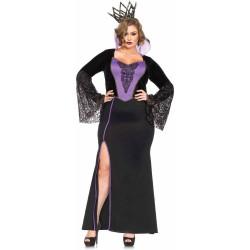 Fantasia Adulto Feminina Rainha Má Plus Size Halloween Carnaval