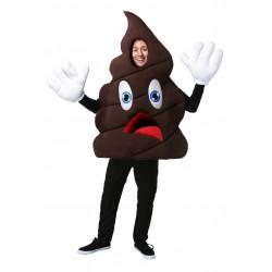 Fantasia Adulto Divertida Emoticon Cocô Halloween Carnaval