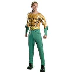 Fantasia Masculina Adulto Aquaman Halloween Carnaval Festa